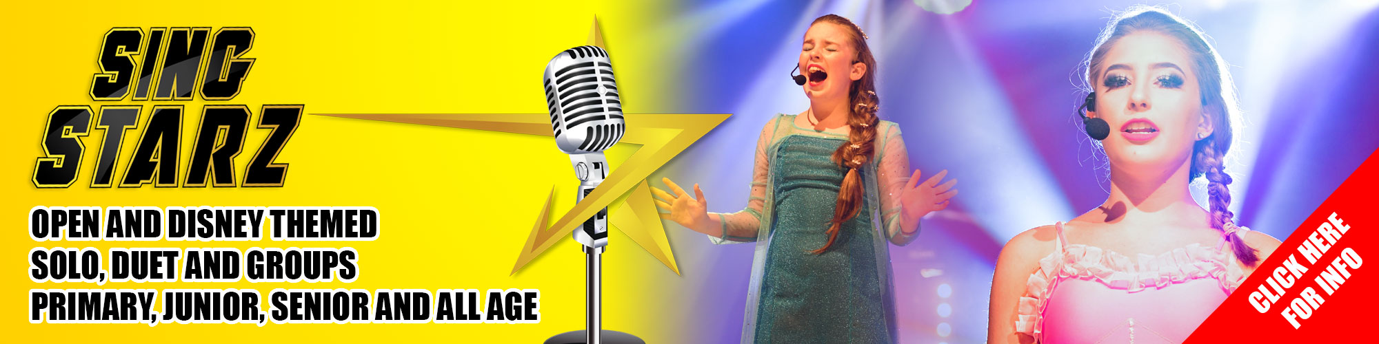 Don't just dance but love to Sing? IFDPA's Singing Competition 'Sing Starz' where solo, duets and groups of aspiring singers will have the chance to shine and show off their musical talents in Open and Disney themed categories.